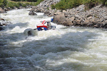 Anthony rafting the North Fork of the Payette River
