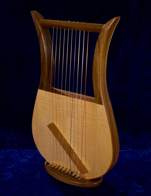 "Click the button above to hear ""Hatikvah"" played on the Davidic Harp"