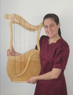 Erin with her Lyre Harp