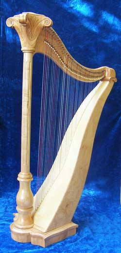 Click on each harp for more information, sound clips, testimonials