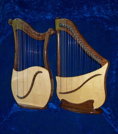 Lyre harp and Lute harp